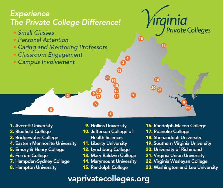 Map of Virginia Colleges and Universities – highlandspringsaca