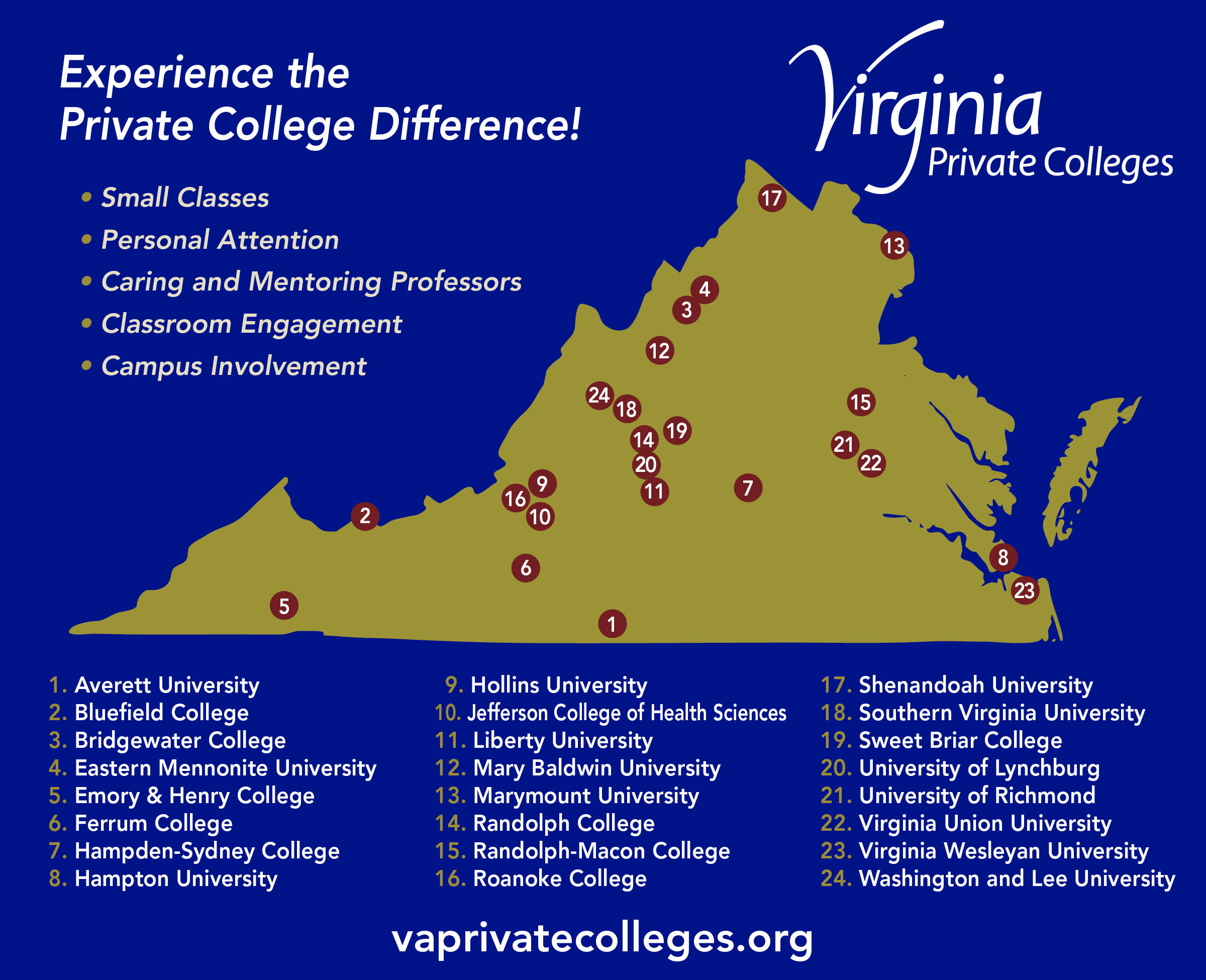 Colleges In Virginia Map | Earth Map